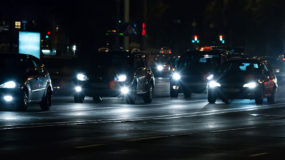 Headlights In Traffic